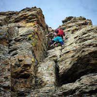 Steep class 3 on the summit block