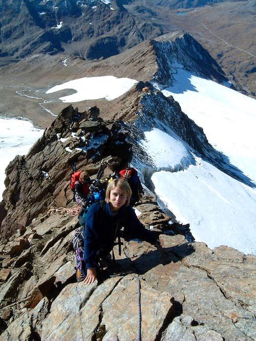 Scramble up Tresero SW ridge