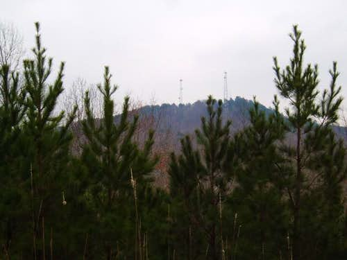 A view of Woodall Mountain...