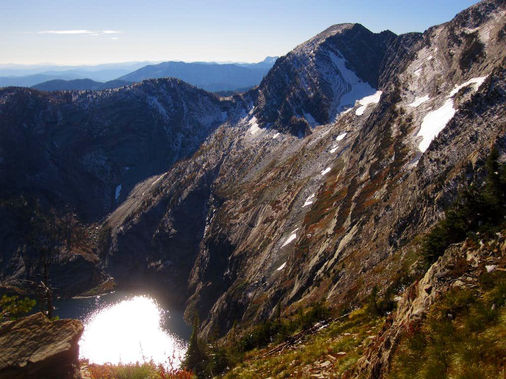 Leigh Lake. En route up Snowshoe Peak