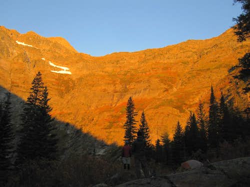 Sunrise on Snowshoe Peak