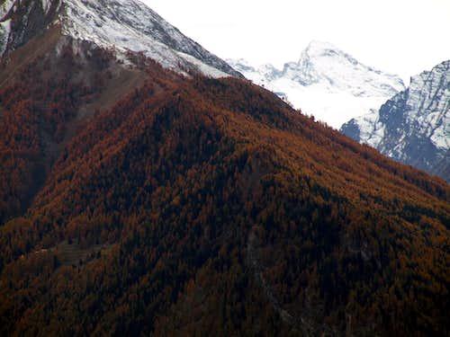 Castle Mountain Mont de l'Âne above Les Combes 2015