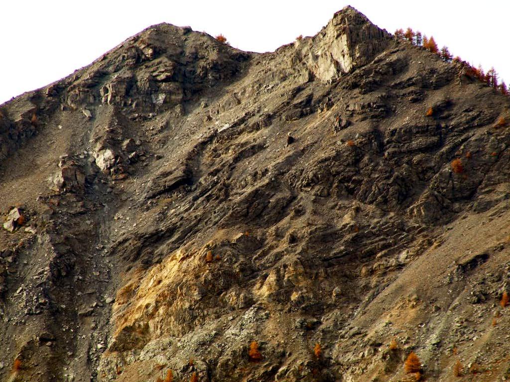Castle Mountain 06th July 1564 great  Landslide 2015