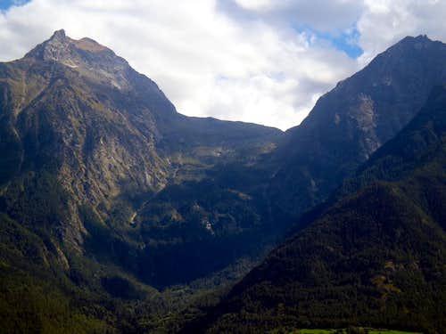 Tour de Salé & Becca di Seneva above Les Laures 2015