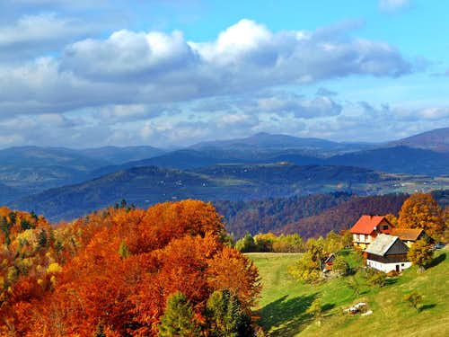 October 2015 - view to Mogielica