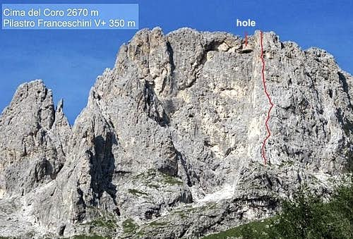 Pilastro Franceschini topo route