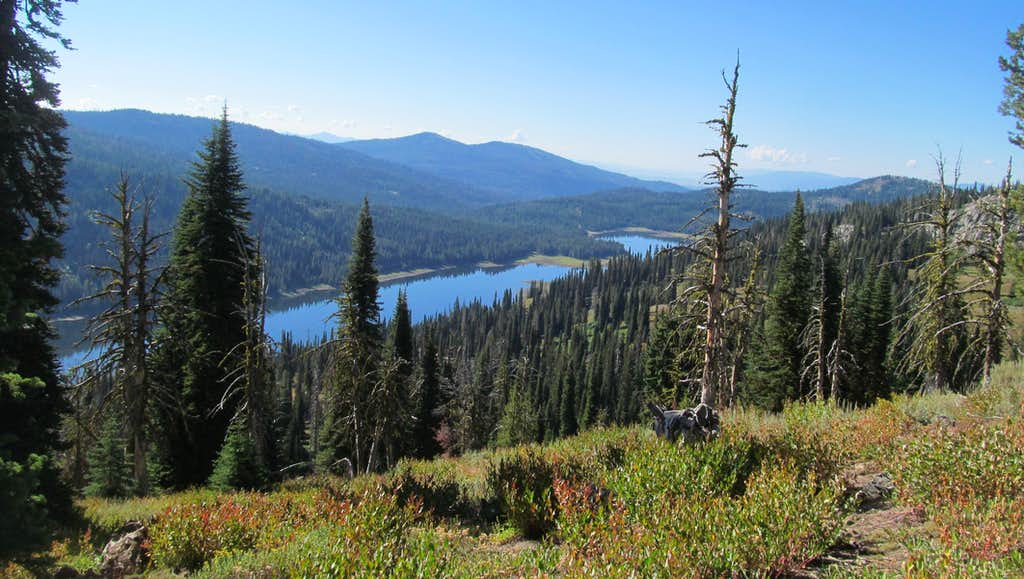 Goose lake from slopes of Granite
