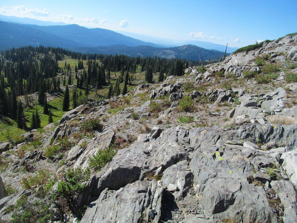rocky terraces of Granite
