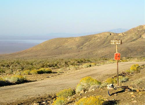 The sign for Ladd and Webb Canyon road