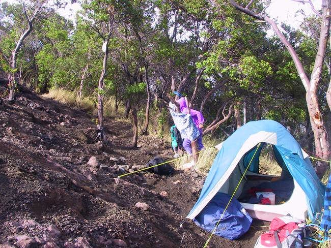 tent at treeline from Guci