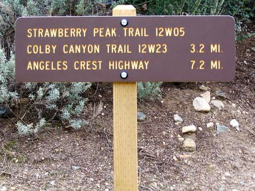 Trailhead signpost. Submitted...