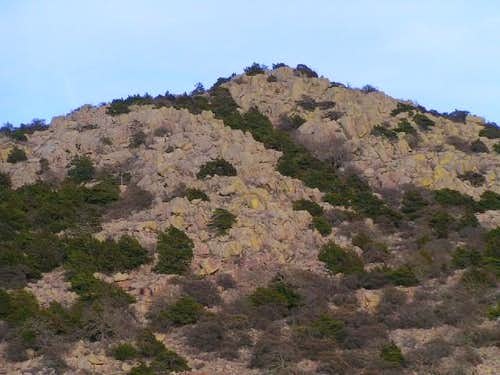 Gordon Peak from the west on...