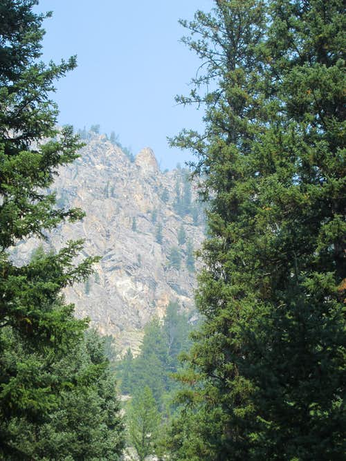 Baxter's Pinnacle seen from the horse trail, Teton Range, WY