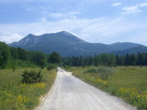 Road from Ticevo reaches the...