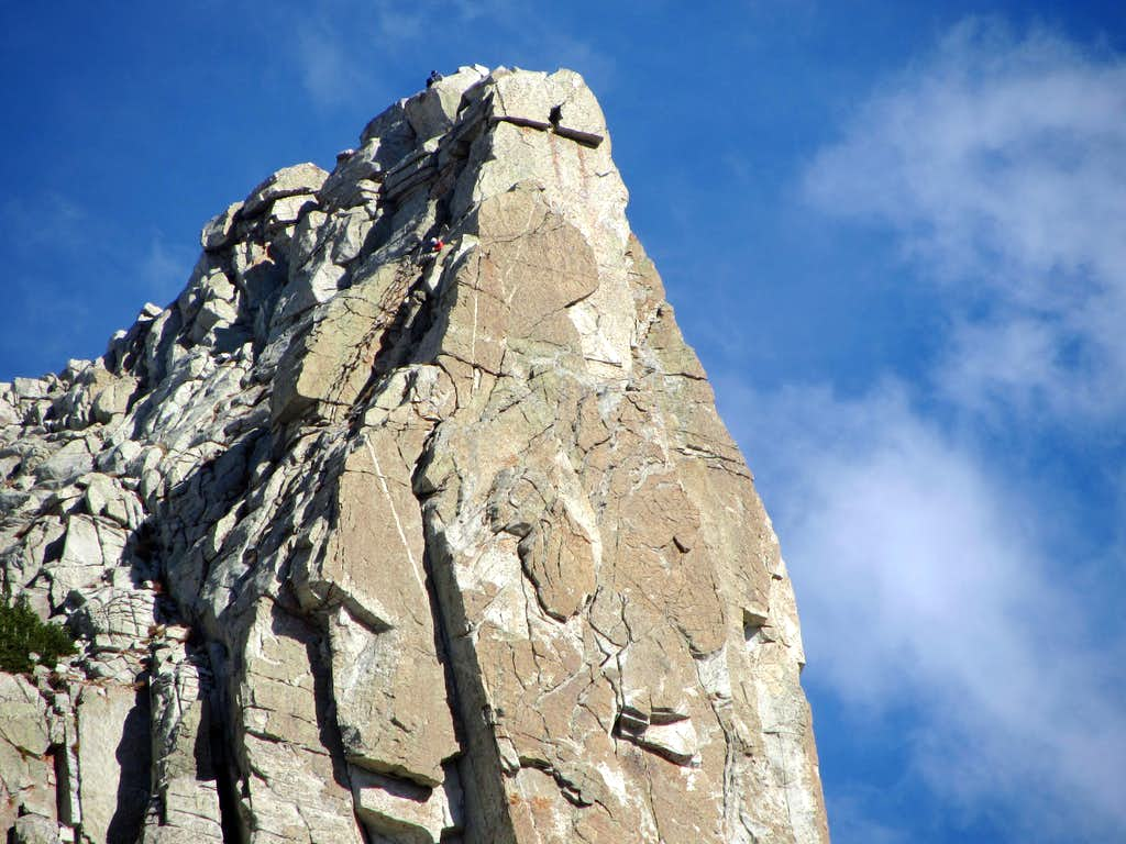Lone Peak climber