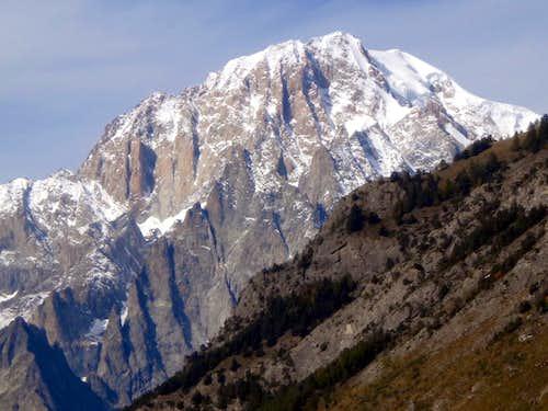 Mont Blanc ascending towards the San Carlo Hill 2015