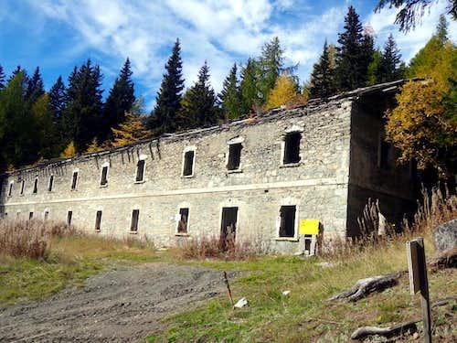 Old barracks at <i>