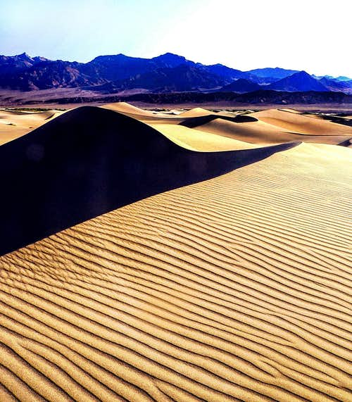 Mesquite Dunes and Grapevine Mountains