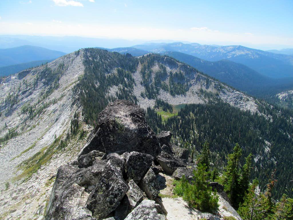 view back down S Ridge