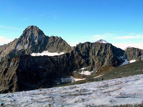 Ciamarella Glacier and the majestic Bessanese