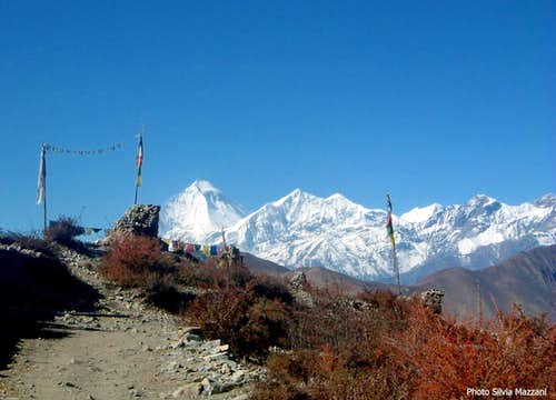 Dhaulagiri seen from Muktinath, Kali Gandaki (Annapurna trail)