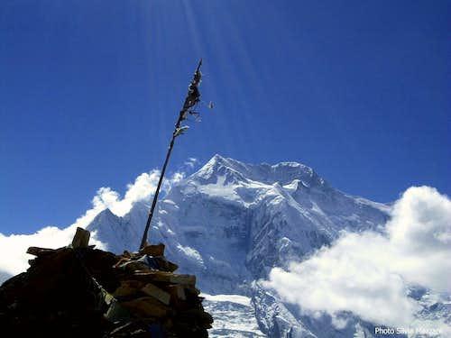 Annapurna seen from Pisang Peak BC