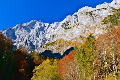 The Watzmann range in mid-autumn