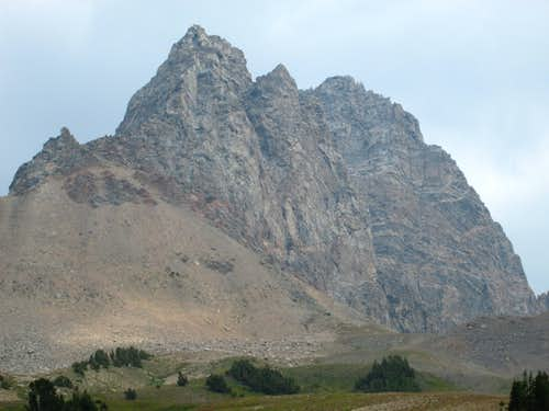 Buck Mountain seen from Alaska Basin, Teton Range, WY