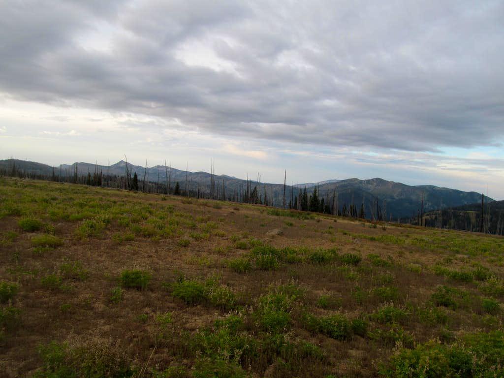 open fields early in the hike