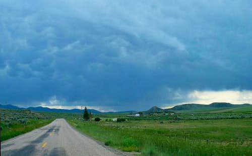 Heading down Idaho Highway...