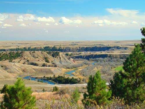 Cheyenne River Canyon Area
