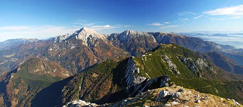 Kocna and Grintovec from Storzic