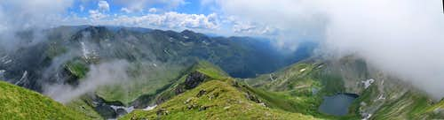 Panorama to east part of Fagaras Mountains