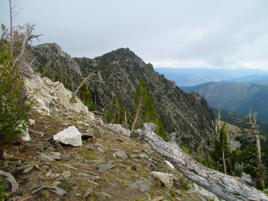 scenes along final ridge climb