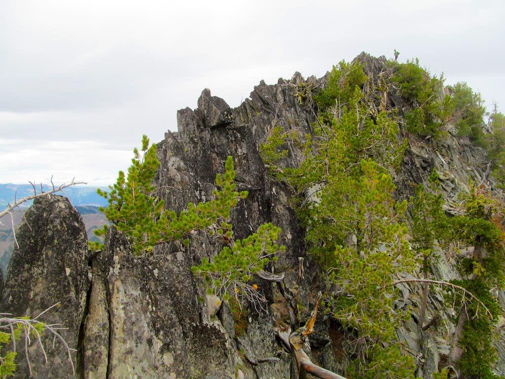 final rocky ridge to the top