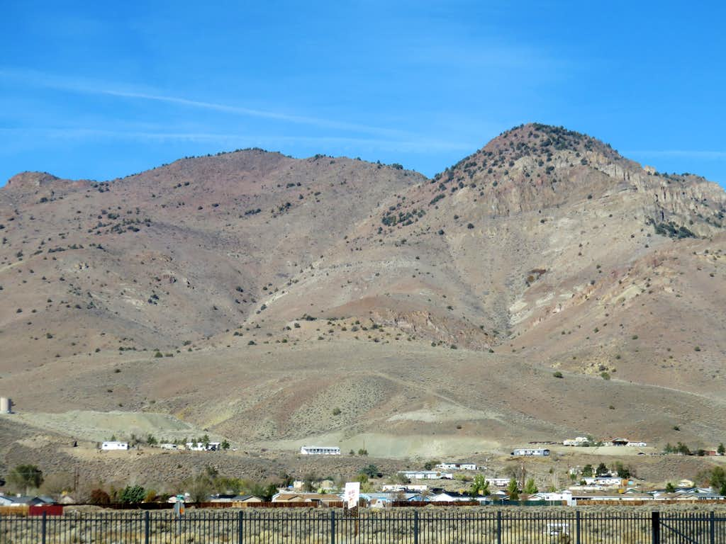 Mount Grosh and Rose Peak from US 50