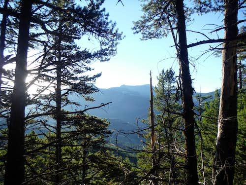 Semi-view of Ten-Four Mountain