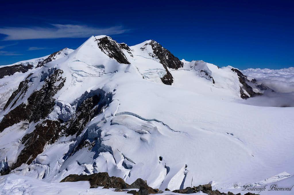 Lyskamm (14852 ft / 4527 m) as seen from Castor
