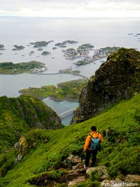 Henningsvær below feet