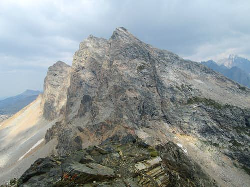 Buck Mountain seen from the summit of Static Peak, Teton Range, WY