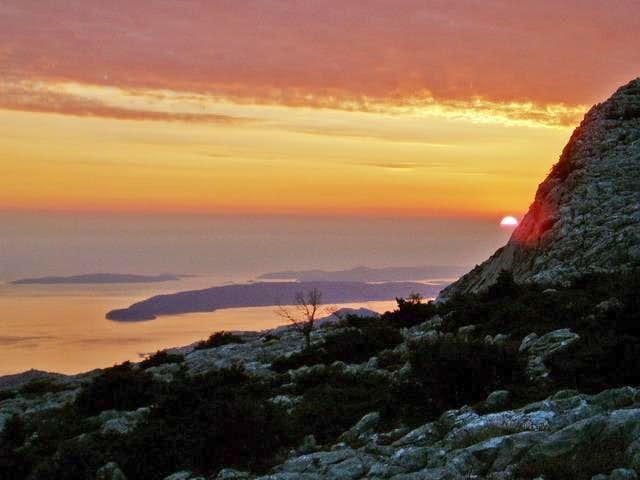 sunset over ciovo pennisula...