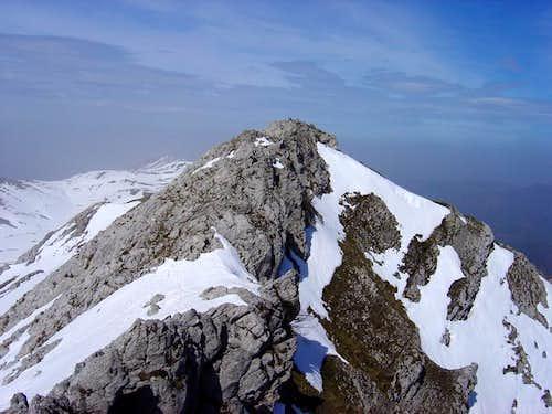 The peak Aitxuri from the...