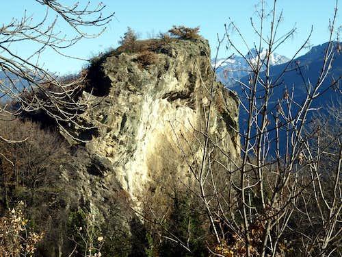 Archaeo ... Rocky Face above Vollein Necropolis 2015