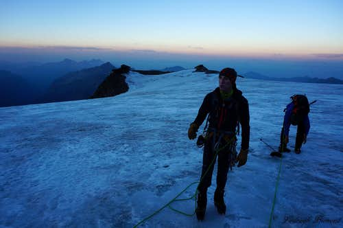 Felik Glacier and Quintino Sella at dawn