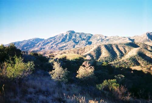 A view of Rincon Peak.