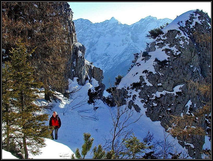 The notch in the S ridge of Pristovski Storzic
