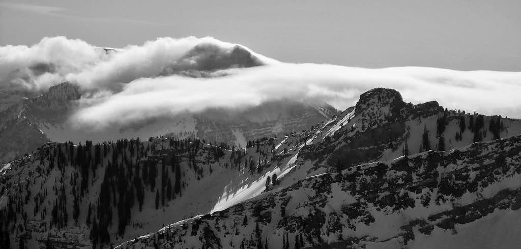 North Timp From Alta-Snowbird Connection