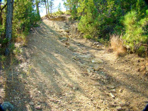 Loose Gravel on Route