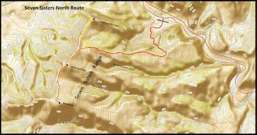 Seven Sisters North Route Map