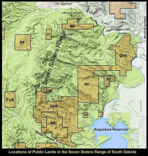 Seven Sisters Public Lands
